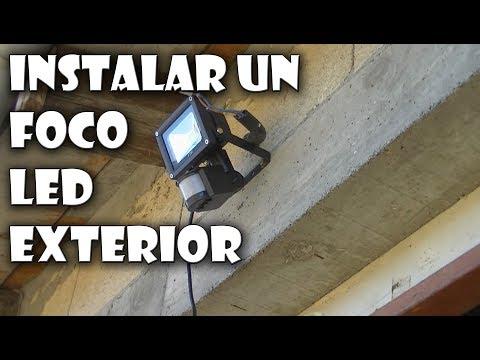 Cómo instalar un Foco LED con sensor de movimiento exterior
