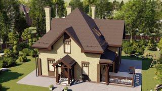 Проект дома 154-A, Площадь дома: 154 м2, Размер дома:  8,8x10,6 м