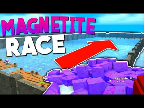 INSANE BOAT RACE FOR MAGNETITE GEAR!! - Roblox Booga Booga - NikTac