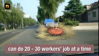 Innovative road sweeper cleans streets with 16 brooms in northern China