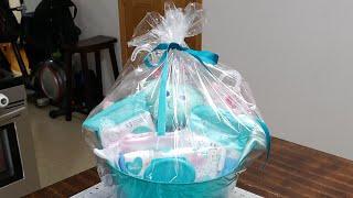 #birthdaybasket #diygiftbasket #babyshower  DIY Birthday Gift Basket + Baby Shower Gift