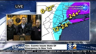 Cuomo Gives Mid-Afternoon Winter Storm Update