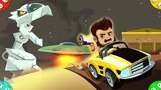 🐾 ДАВИМ БАНДИТОВ ПРИШЕЛЬЦЕВ #4  в игре Aliens Drive Me Crazy. На машине против захватчиков