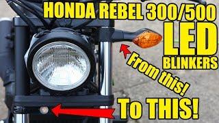 Honda Rebel 500 / 300 LED Blinker Install! High Tech Speed X-ARC