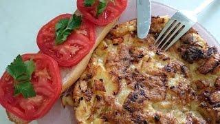 Тортильярецепт блюда из картошки с яйцом как приготовить вкусно и быстро на ужин