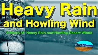 "Heavy Pouring Rain and Thunder and Wind | 2 Hours | ""Rain"" ""Rain Sounds"" ""Sleep Sounds"""
