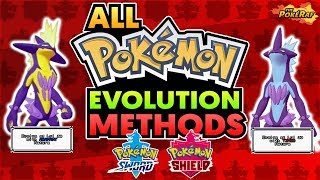 ALL NEW Evolution Methods in Pokémon Sword and Shield! (How To Get/All Items and Locations)