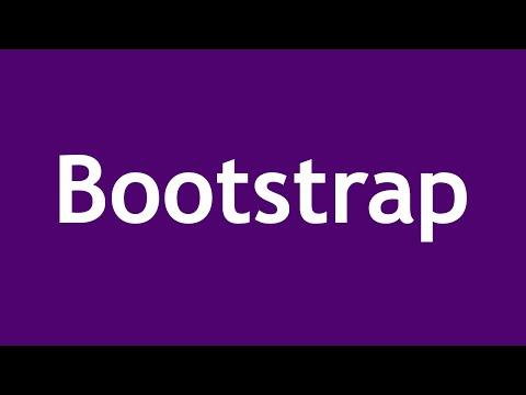 تعلم Bootstrap 3 القائمة #1 الفديو #1