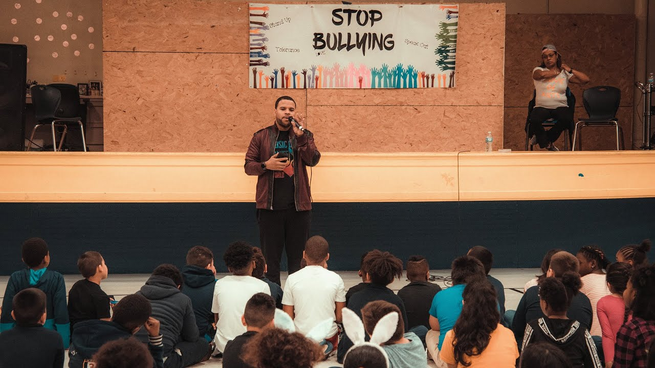 RJ Griffith - Anti-Bullying Assembly at East Chicago Lighthouse Charter School