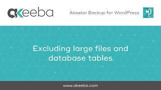 Watch a video on Excluding Large Files & Database Tables [03:44]
