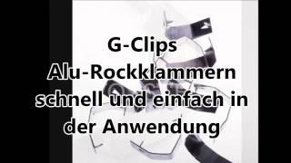 CG-1 G-Clips Alu-Rockklammern