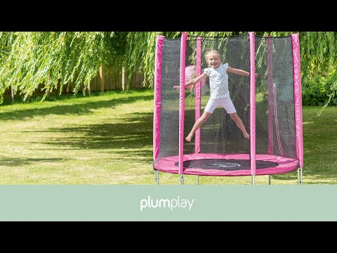 Cama elástica con recinto Junior 1,40 m Plumplay