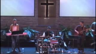 Church drummer go crazy in a worship song