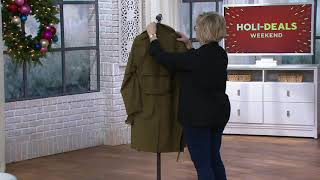 London Fog Mens Water Resistant Trench Coat On QVC