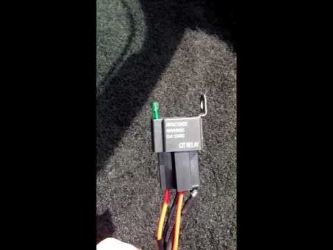 How to wire a relay! The easy simple way!