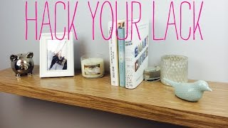 Ikea Hack - Lack Shelf DIY with Contact Paper