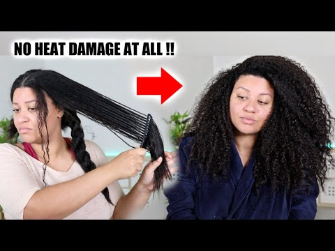 Straight To Curly Hair Routine! Watch My Hair Revert Back