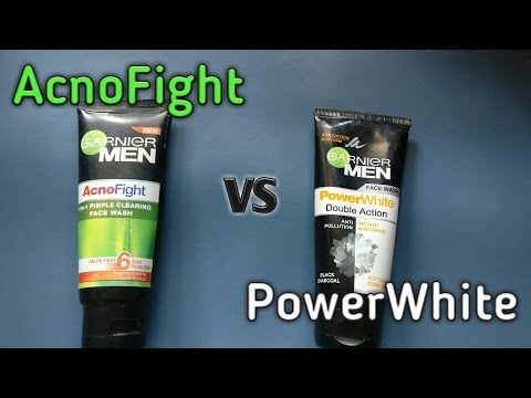, title : 'GARNIER MENS AcnoFight vs Power White double action ( which one is better?????)'