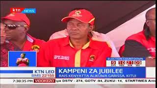 Rais Uhuru Kenyatta na naibu William Ruto waendeleza kampeini kaunti ya Garissa