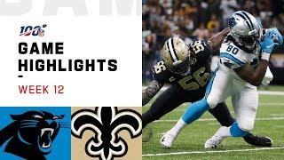 Panthers vs. Saints Week 12 Highlights | NFL 2019