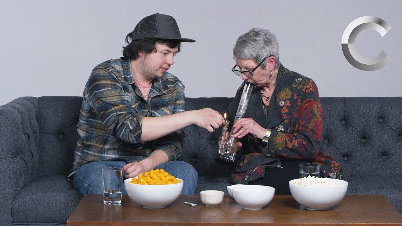 Omasex mit dem Enkel macht Spass