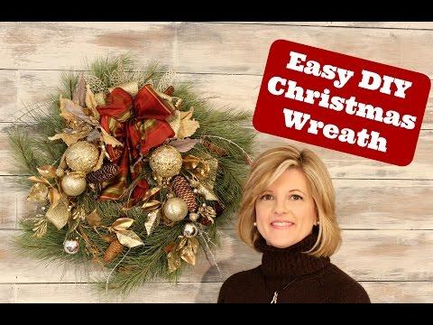 Easy and Stunning Christmas Wreath Idea