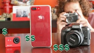 Cámara MUY BARATA vs COSTOSA vs iPhone | ¿Cuál funciona mejor?
