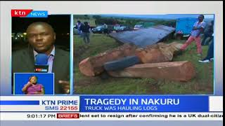 Five people killed in Nakuru County after a chain collision involving 8 vehicles