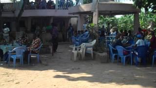 Adventurebug Democratic Republic Congo Victor sqeezes into a Party