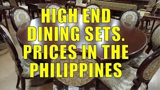 High End Dining Sets. Prices In The Philippines.