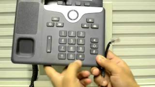 How to perform factory reset on 7841 phone using keypad
