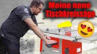 Holzmann TS 250 Tischkreissäge oder schon Formatkreissäge ! Unboxing ! Aufbau ! Erster Test