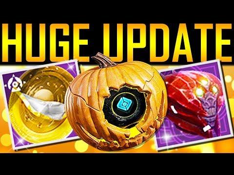 Destiny 2 - MASSIVE GAME UPDATE! New Halloween Loot!