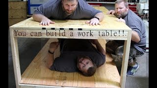 A Simple 2x4 and plywood work table/bench You can build!!