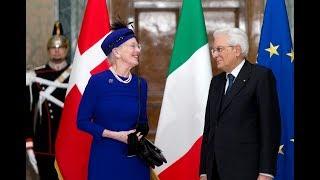 Incontro del Presidente Mattarella con S.M. Margherita II Regina di Danimarca
