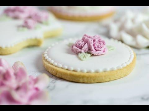 Karen Davies Sugarcraft Cake Decorating – How To Make Beautiful Sugar Cookies – Wedding – Tutorial
