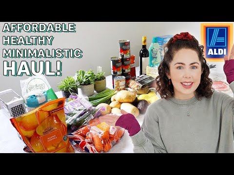 Healthy Affordable Aldi Grocery Haul UK 2020   Minimalistic & Budget Friendly