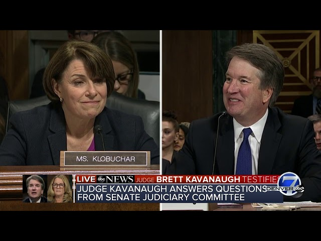 Sen Klobuchar Asks If Kavanaugh Has A Drinking Problem He Queries Her Back