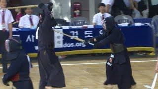 2019 한국사회인검도대회 중년부 개인전 태안검도관 이정호 VS 검혼검도관 조성욱
