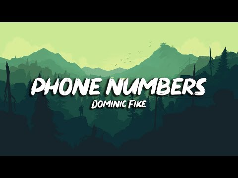 Dominic Fike - Phone Numbers (Lyrics) - Electronic Lyrics