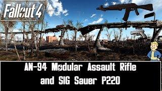 Fallout 4 MODS 18 AN94 Modular Assault Rifle and SIG Sauer P220 by Millenia PC