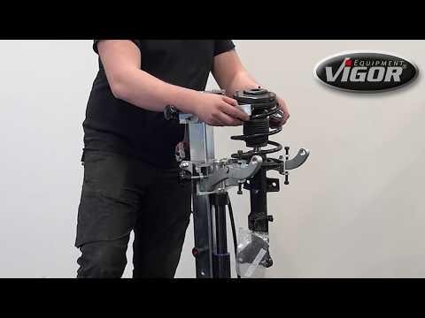 VIGOR Hydraulischer Federspanner inkl. 10 Federteller V4476N