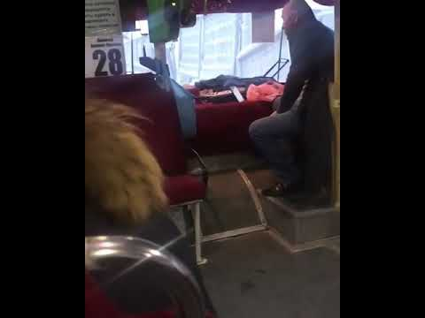 Видеофакт: Пассажирку возмутил кушавший в салоне автобуса кондуктор