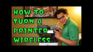 How to turn your Kyocera printer into a WIRELESS printer with the IB-51 Wireless Network Interface!