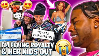 IM OFFICIALLY FLYING ROYALTY & HER KIDS OUT TO SEE ME!❤️ (CJ IS UPSET)💔