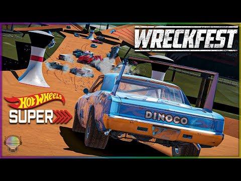 HOT WHEELS SUPER TRACK! | Wreckfest