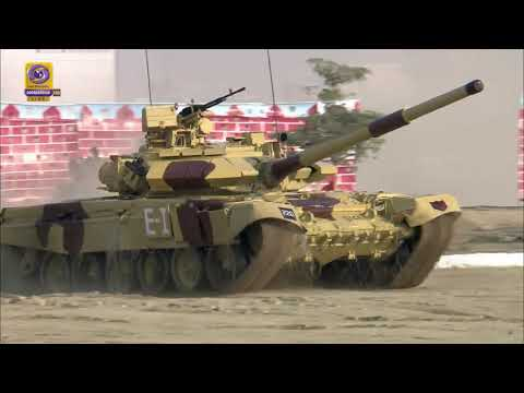 Battle Tanks & Fighter Aircrafts Demonstration at Defence India Expo 2020