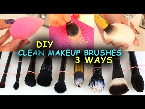 How To Clean Makeup Brushes & Beauty Blenders + 3 Ways + DIY Makeup Brush Cleaners