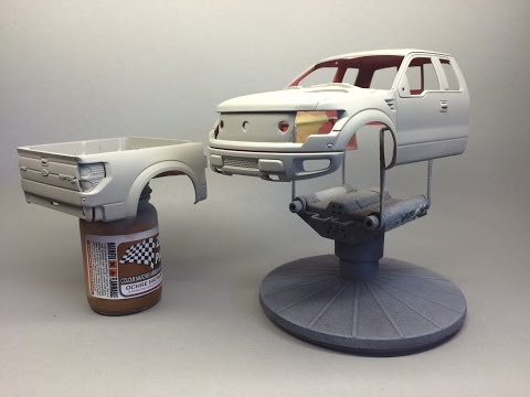 Revell: Ford F 150 Raptor Part 1 Prep and Prime