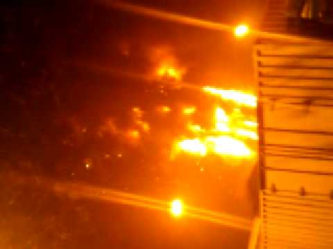Fire of a new CCTV skyscraper in Beijing